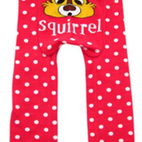 Legging Pant in Squirrel design for baby to toddler girls 3 mos to 4T Chipmunk