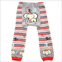 Elephant Barbar Counting Numbers Legging Pants for Baby to Toddler Sizes in 3 mos to 4T