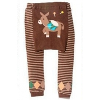Donkey Mule Brown Unisex Legging Pants for baby boys & girls in size 3 mos to 4T toddlers