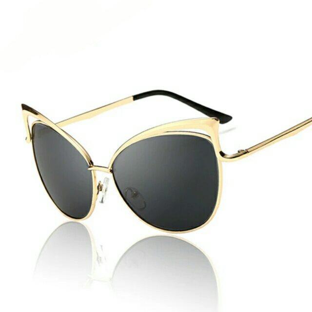 efe30db9e0f8 ... New Fashion Cat Eye luxury Sunglasses 2017 Women Brand Designer  Twin-Beam Mirror Men Sun