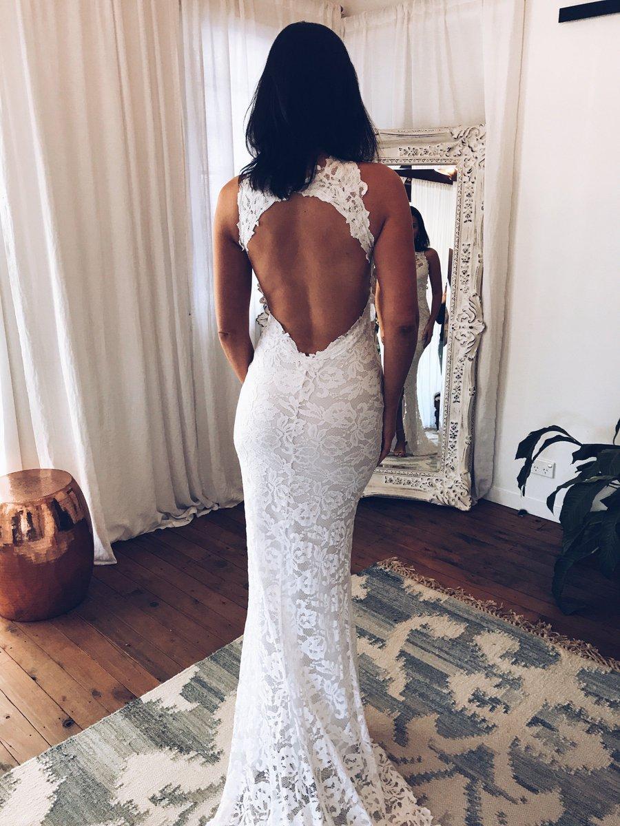 Unique Open Back Lace Mermaid Wedding Dresses Bridal Gowns ...