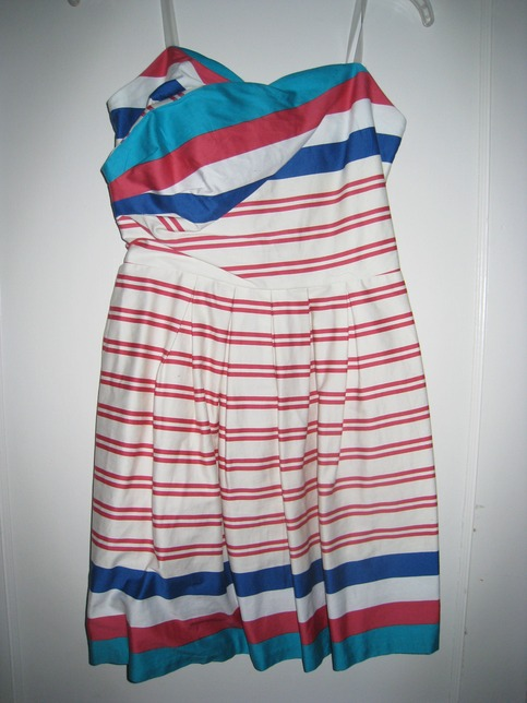Charlotte Russe Striped Strapless Dress