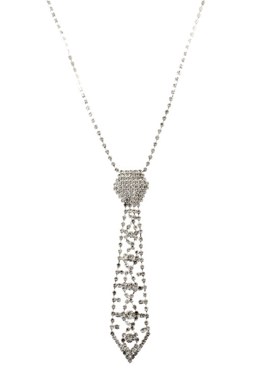 Small Crystal Tie Necklace 183 Sophisticates Closet 183 Online Store Powered By Storenvy