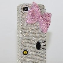 3D Swarovski Crystal Kitty Case