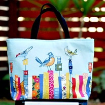 Birdie Tote with Tablet Pocket