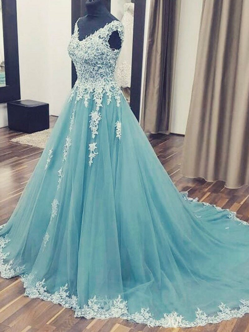 Princess Prom Dress Long 2018,Prom Dresses,Evening Gown, Graduation ...