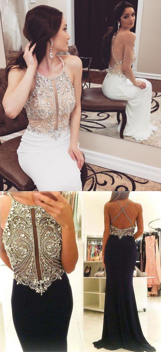 Prom Dresses 2018 Prom Dresses Mermaid Long Prom Dresses White