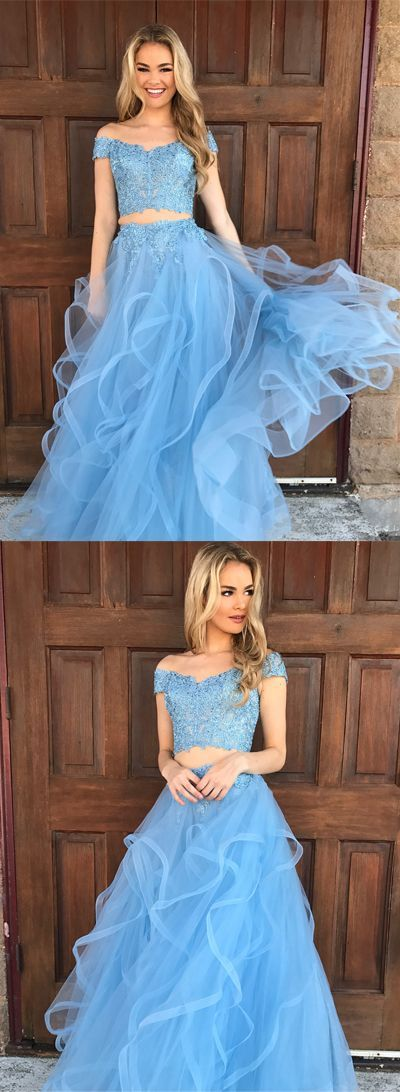 Newest Two Pieces Prom Dresses,Long Prom Dresses,Cheap Prom Dresses ...