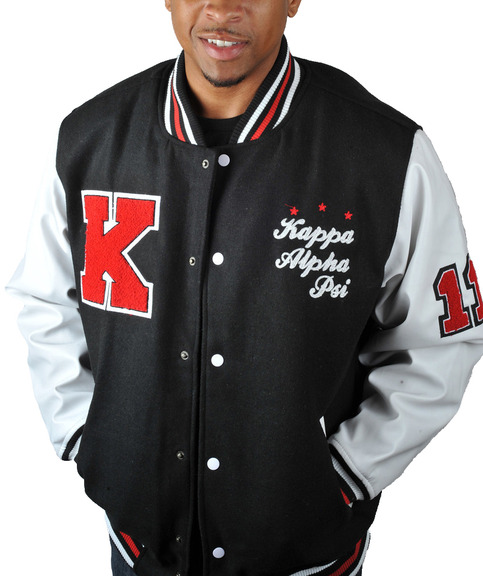 "Kappa Alpha Psi ""K"" Wool Letterman BLK"