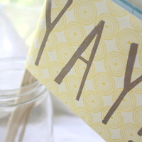 Yay Flags - Stamped by Hand - Ceremony/Party Decor - Thumbnail 3