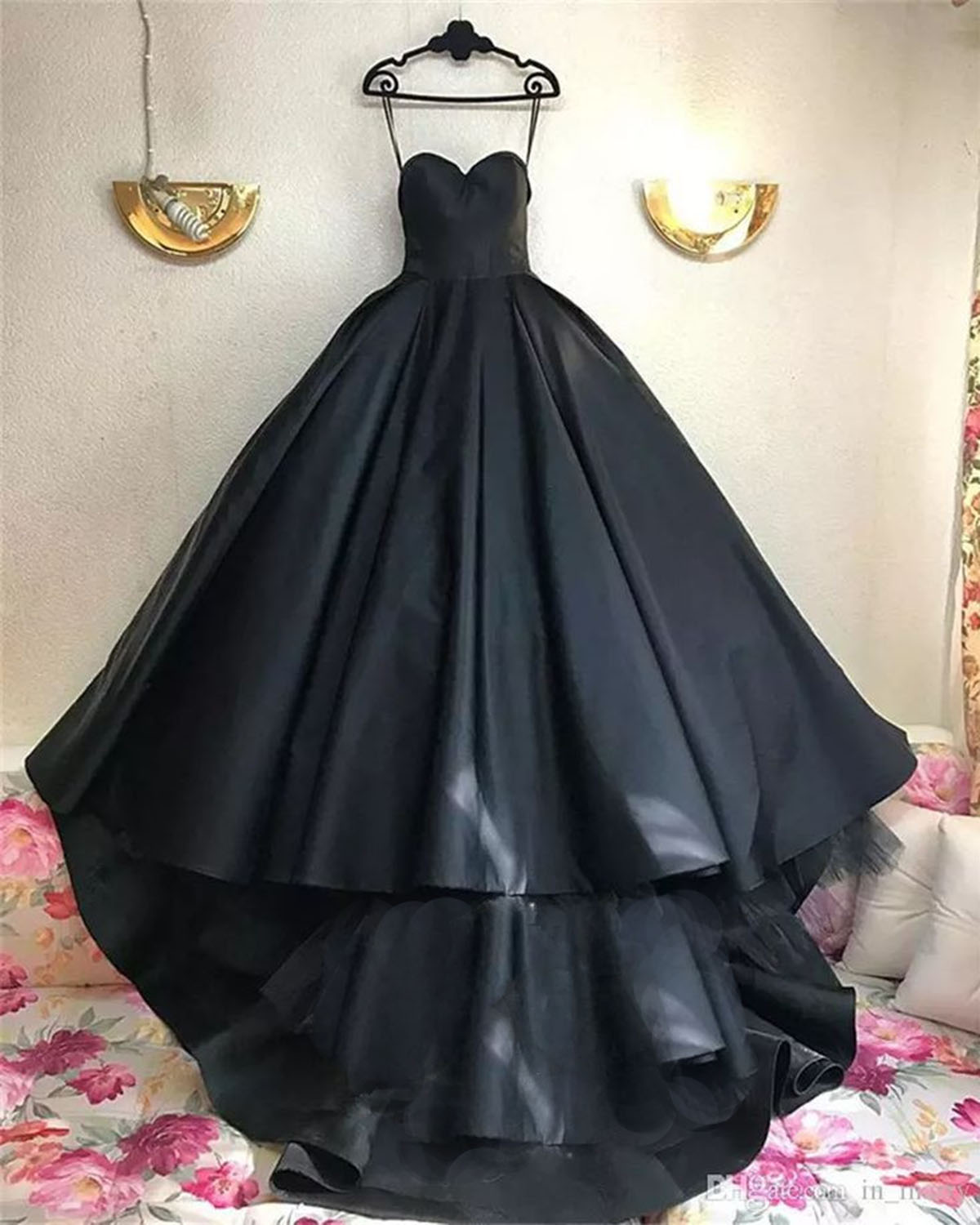 Cheap Prom Dresses by SweetheartDress · Simple black satin strapless ...