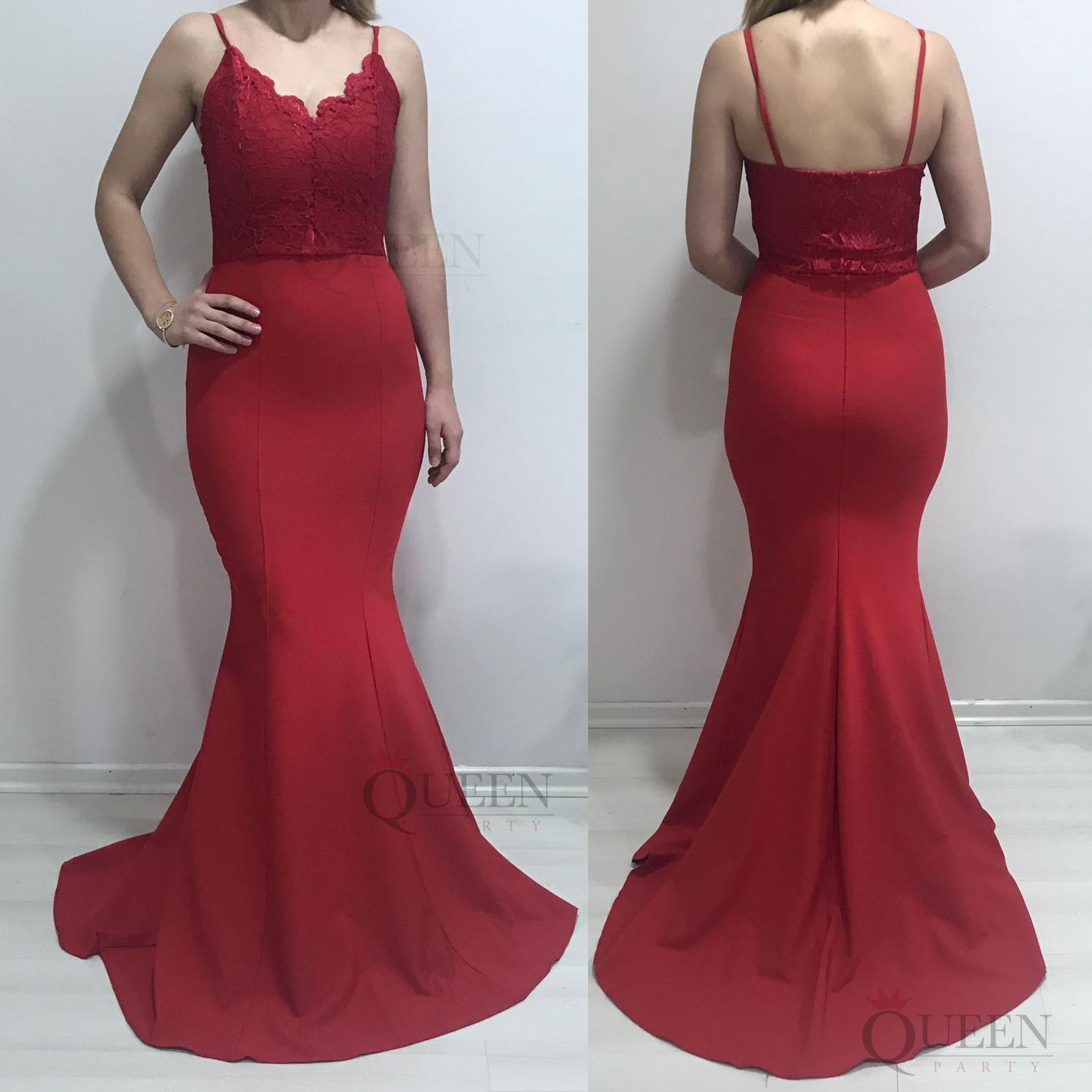 All Red Mermaid Dress