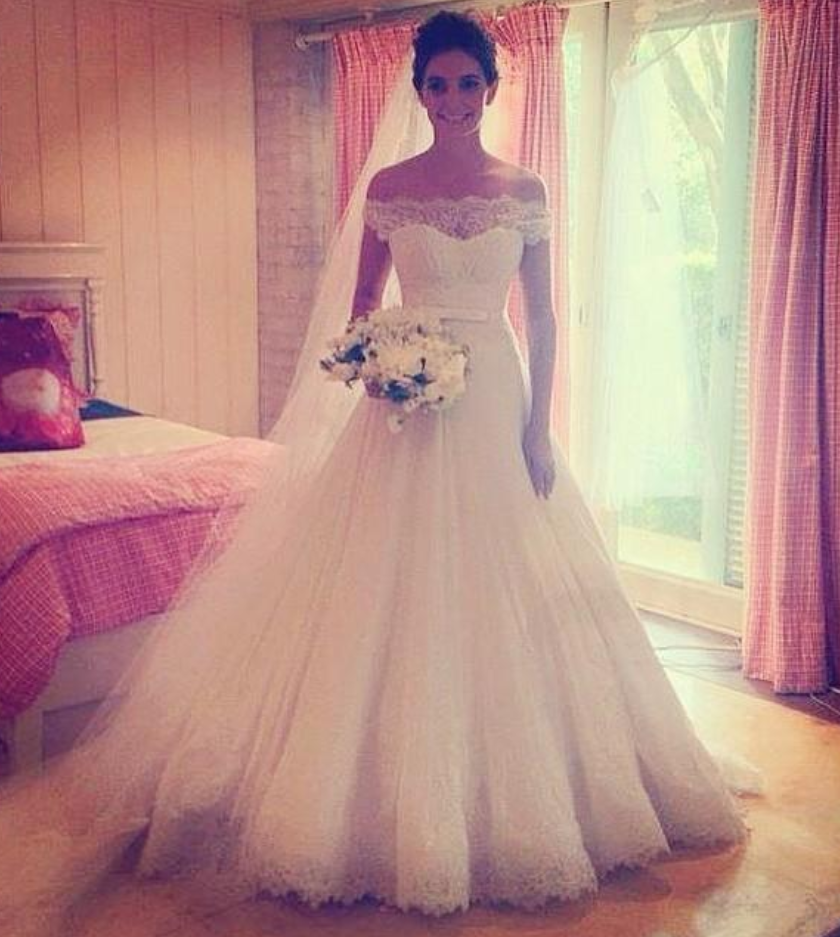 White Wedding Dresses,Off The Shoulder Wedding Gown,Lace Wedding ...