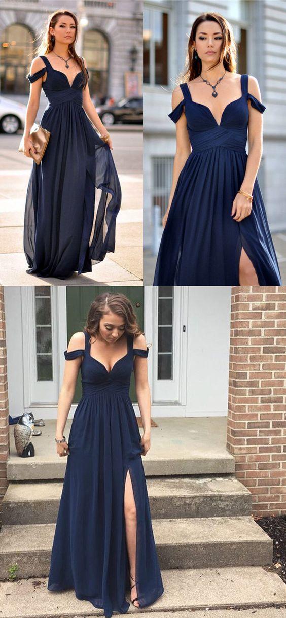 Sexy Prom Dresssleeveless Chiffon Prom Dresseslong Prom Dresses