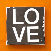 Subway Art Wall Hanging Canvas - LOVE, Inspirational Art