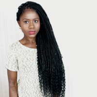 Faux Locs Wig (Handmade wig) 12 inches to 18 inches $350 - Thumbnail 4