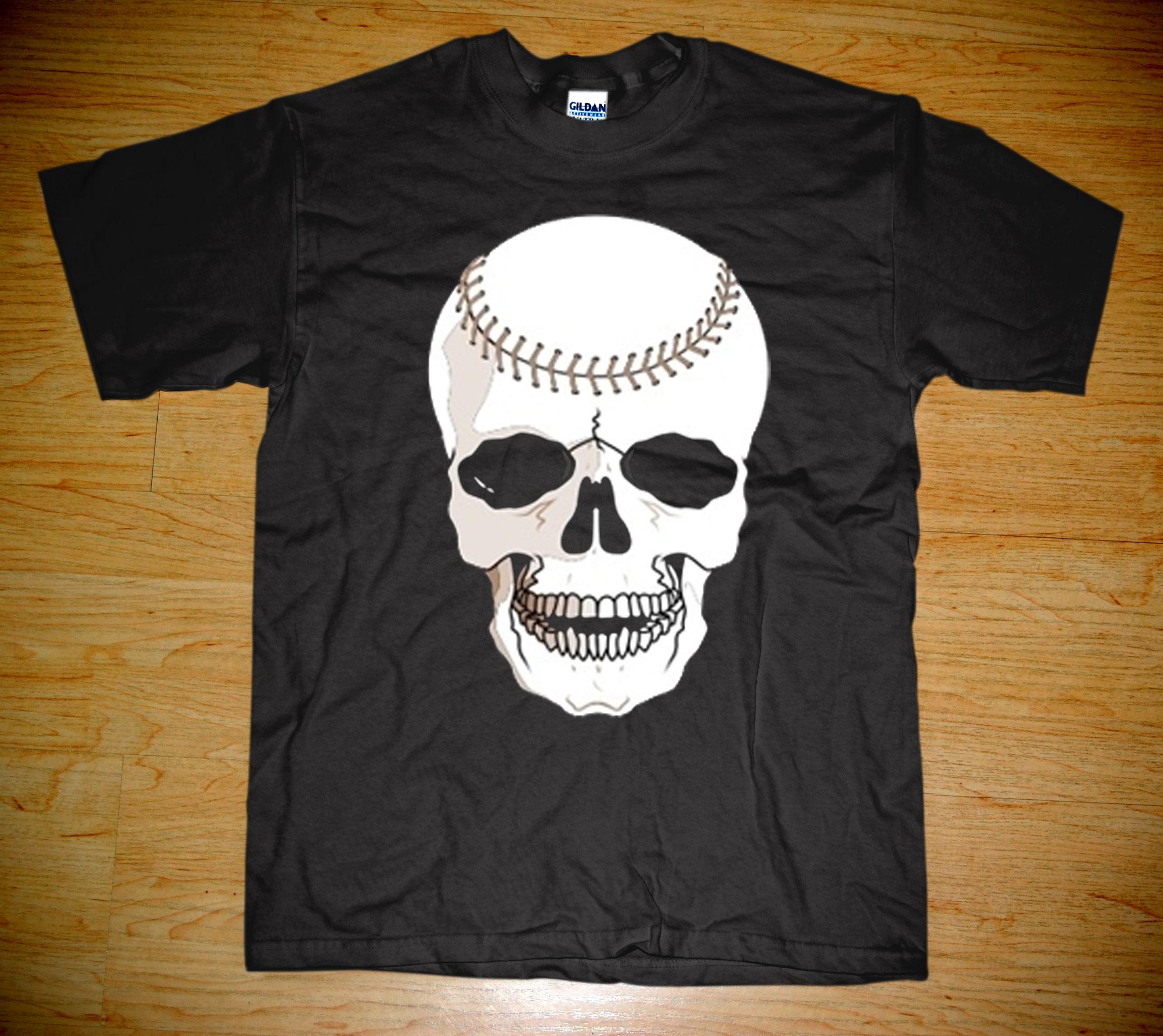 logo funny unique baseball skull killer like: estudiomostro.storenvy.com/products/266688-baseball-skull