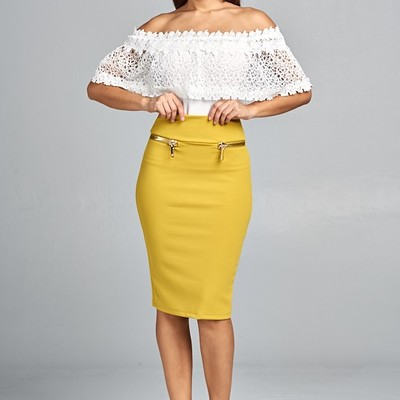 """valentina"" pencil skirt"