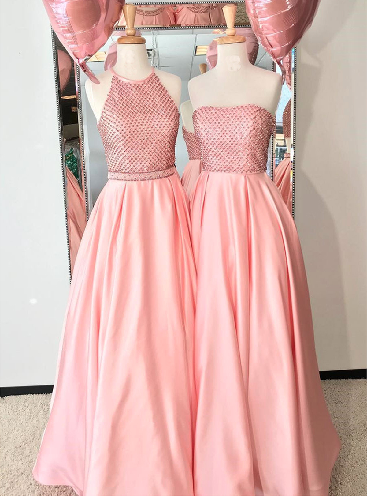 Cheap Prom Dresses by SweetheartDress · Pink satin strapless long ...