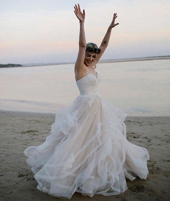 wedding dresses a line sweetheart