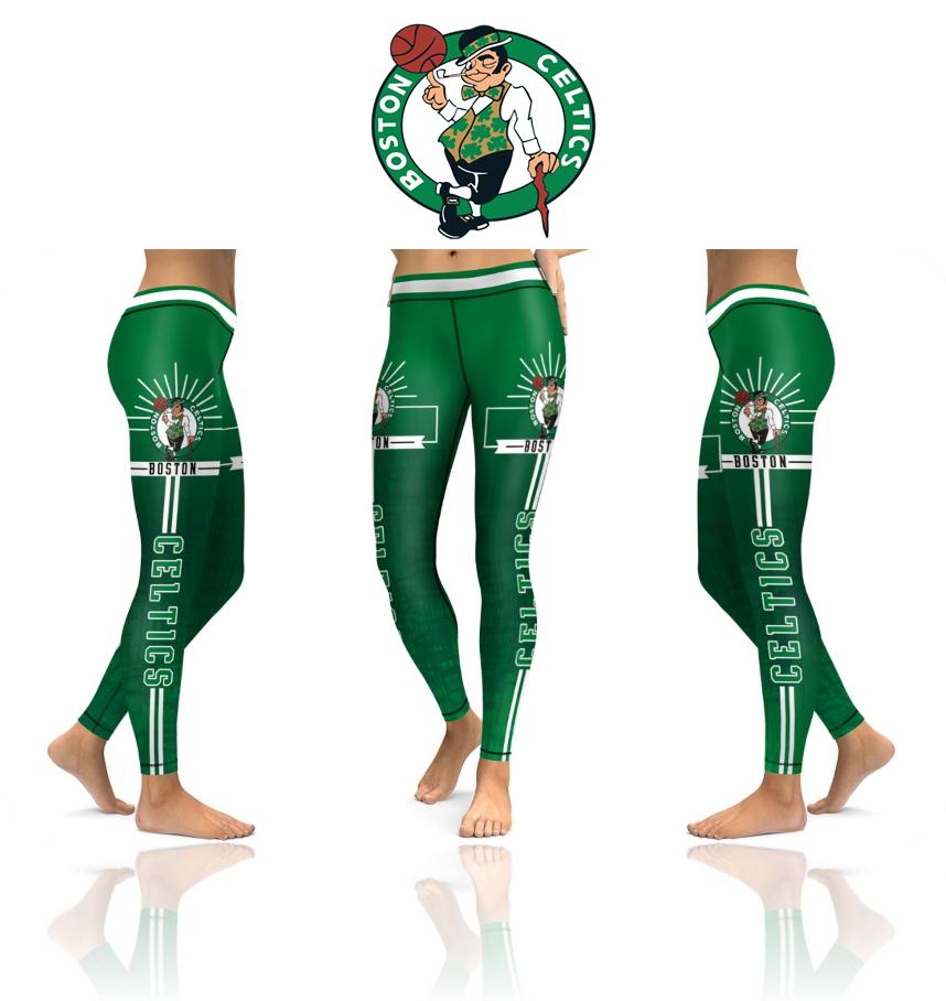 41cc2cda7 New Season Boston Celtics NBA Sports Leggings · SportsMegas · Online ...