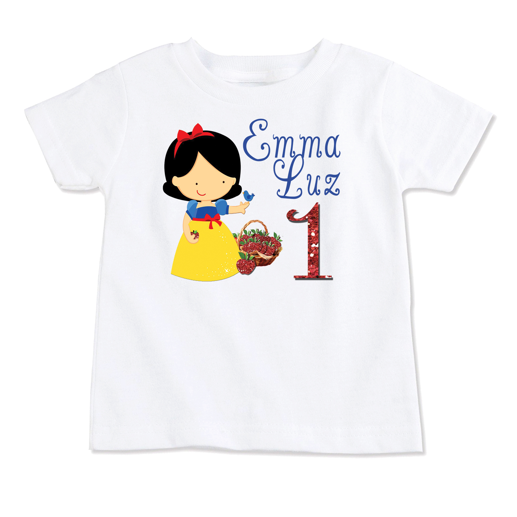 Snow White Personalized Onesie T Shirt Top Birthday