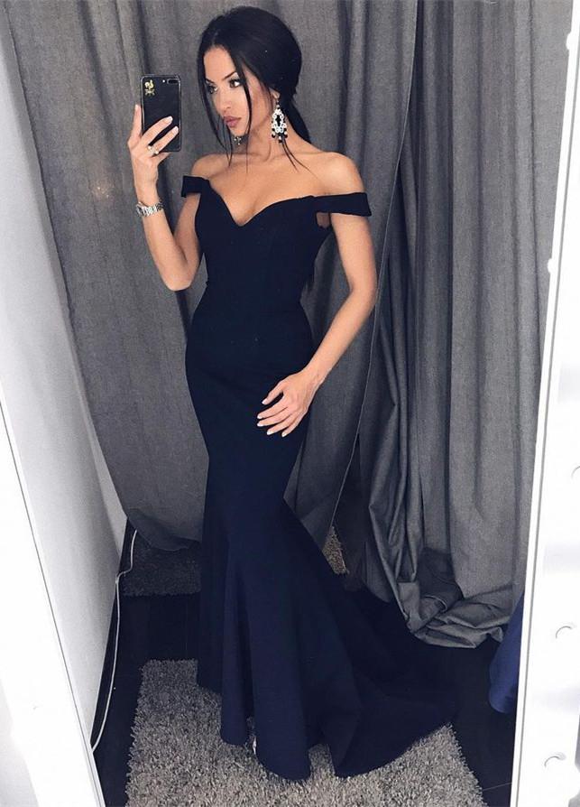 Prom Gowns Black Prom Dresses Cheap Graduation Dress Sexy Long