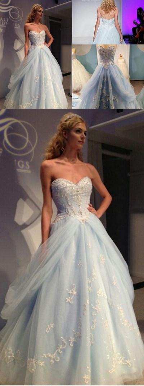 Cinderella Dress,Light Blue Quinceanera Dresses,Prom Dress,Ball Gown ...