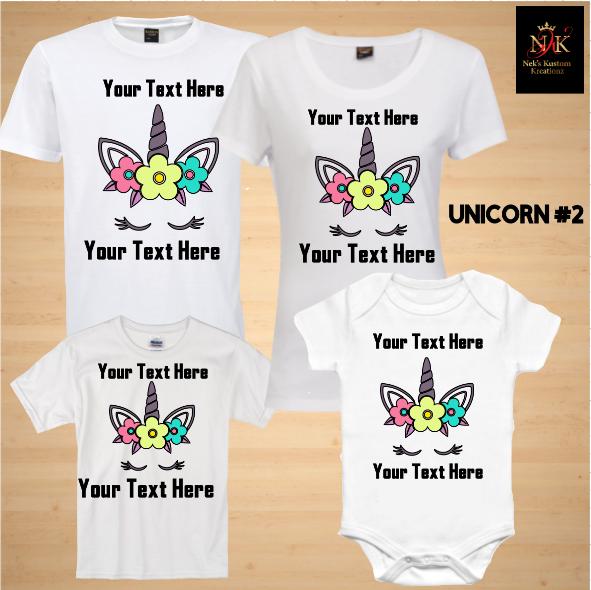 Unicorn 2 Birthday Shirts