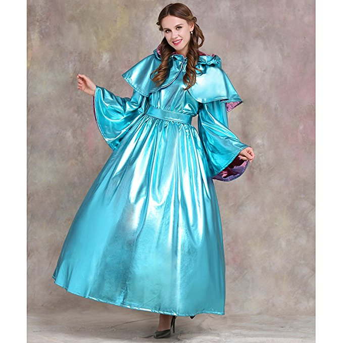 Cinderella Fairy Godmother Cotume God Mother Cosplay Dress Plus Size