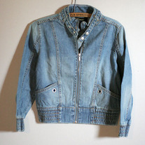 Crop Denim Moto Jacket by Insight (Brand New)