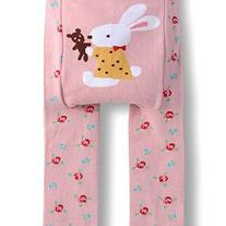Bunny with Teddy and Roses Lace Edged Legging Pants