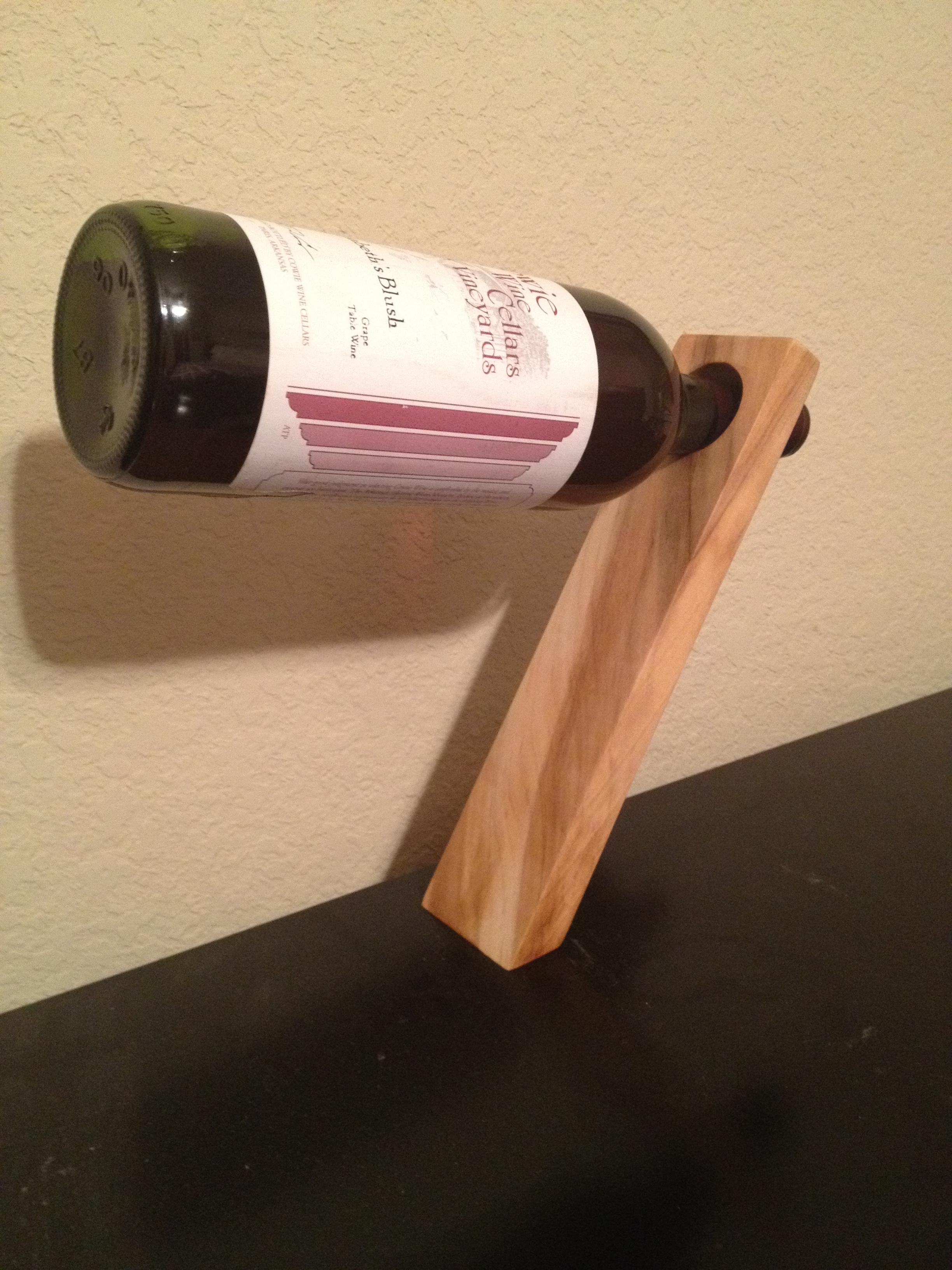 N8r Fabrications Maple Wine Bottle Stand Holder