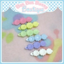 Tiny Treat Hair Clip - Flower Trio C