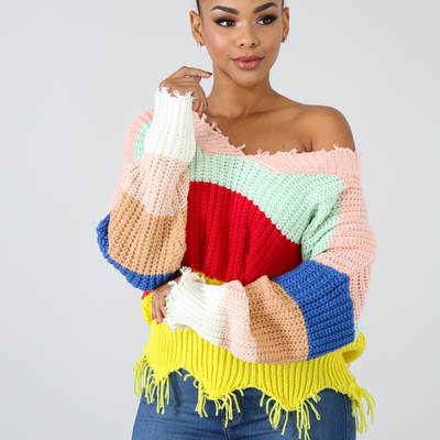 """kyrz"" colorblock sweater"