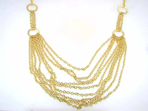 Layered Open Link Gold Necklace