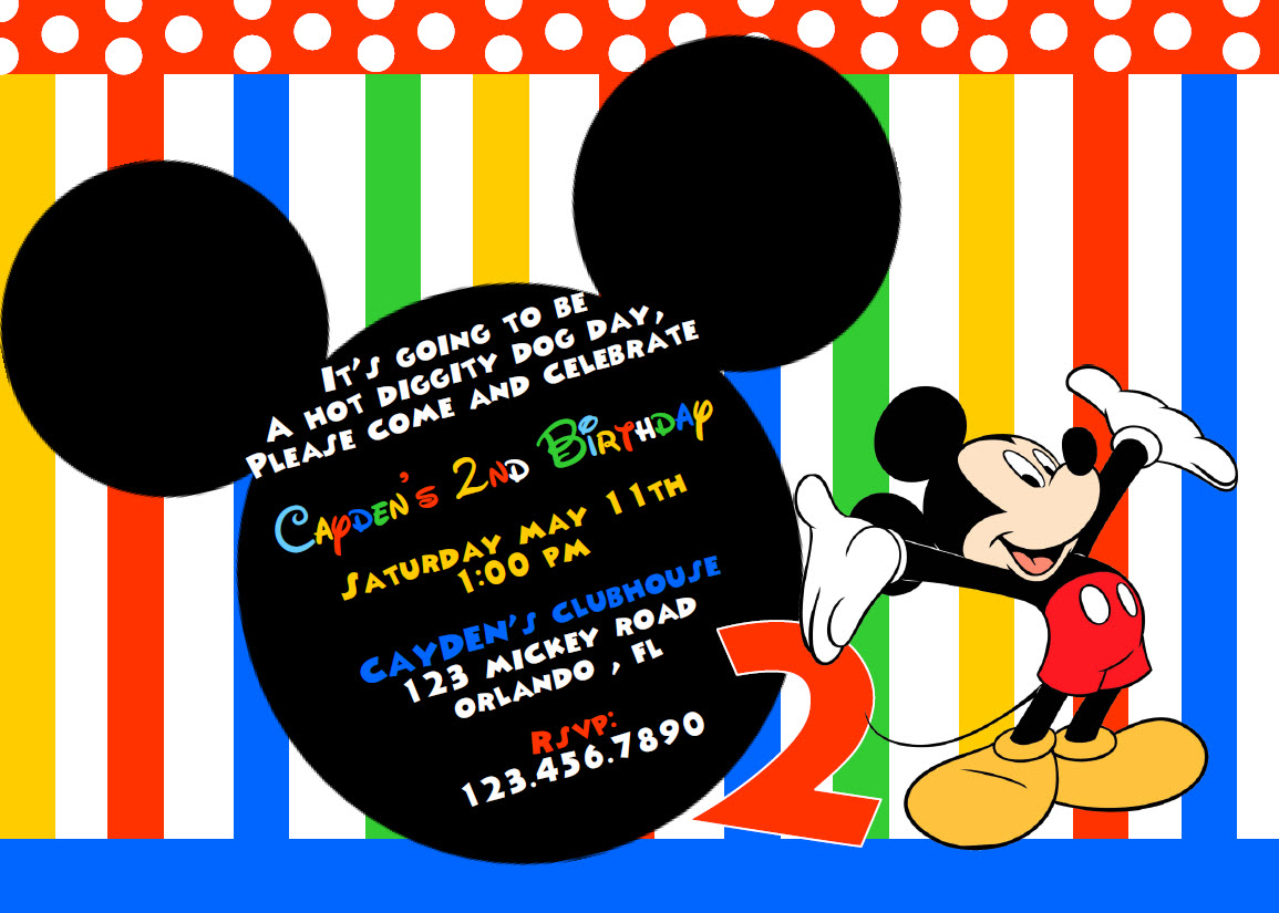... printable invitations mickey mouse inspired printable birthday