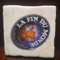 Handmade Craft Brew Recycled Label Coaster - La Fin du Monde