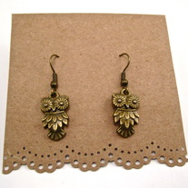 Dainty Owl Earrings