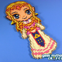 Princess Zelda Nintendo - Custom Chibishou Perler Bead Sprite Pixel Art Decoration