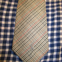 Polo Plaid Cotton Tie