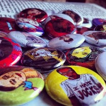Feminist Playing Cards Buttons! Take yr pick!