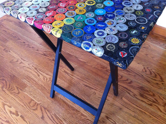 bottle cap furniture. bottle cap spectrum table thumbnail 2 furniture t