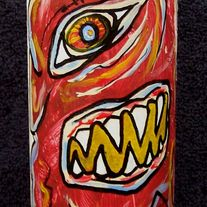 Super Crunch Action - original painting on spray can
