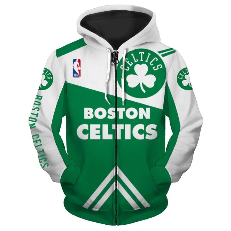 aec70223f Boston Celtics NBA Full Zipper Hoodie Basketball Sweatshirts New Season