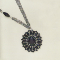 Vintage Black Crystal Necklace