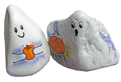Halloween Ghosts And Pumpkins Painted Rocks On Storenvy