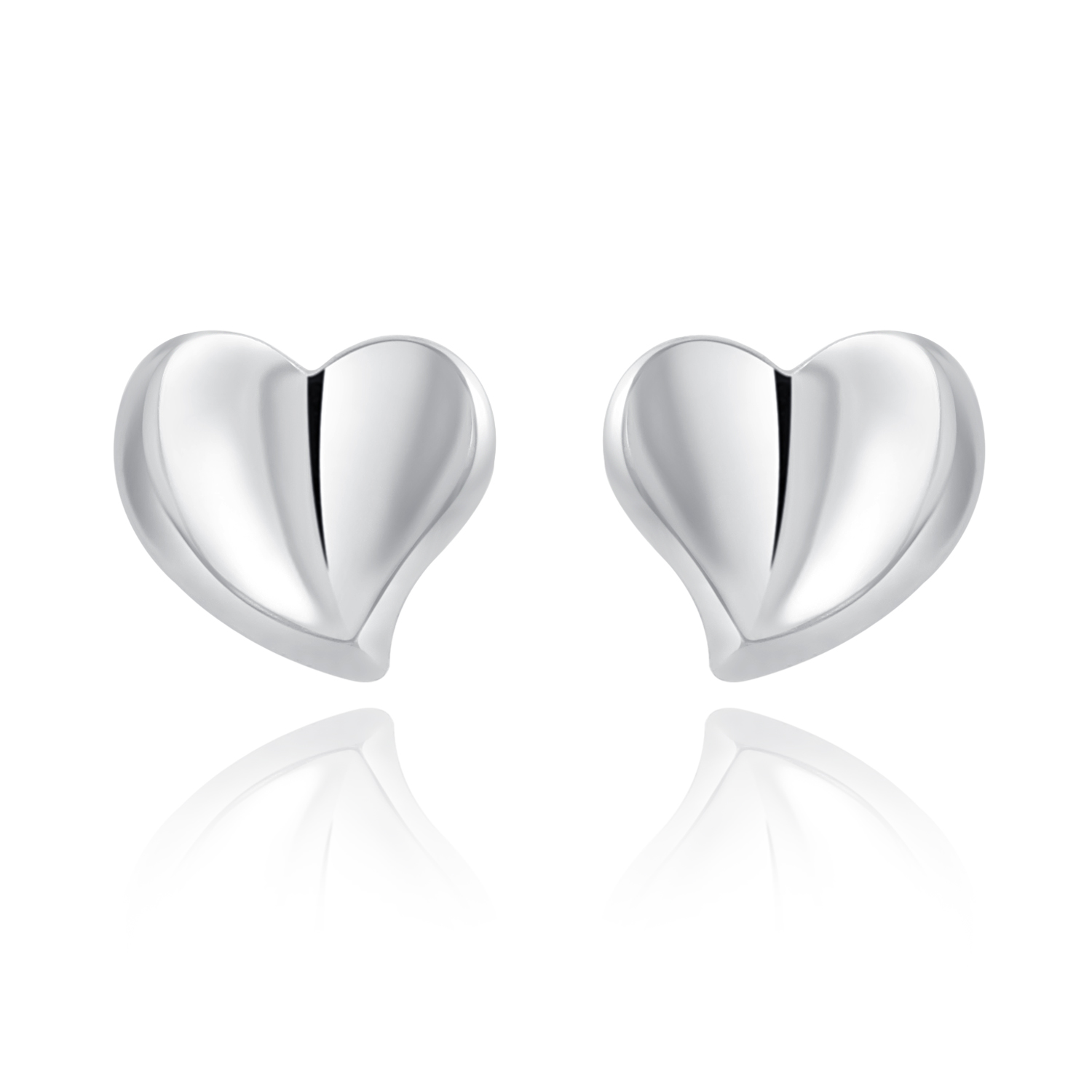 shaped m g earrings heart steven stud silver sterling products