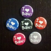 I heart Babies - Buttons (Mutiple Colors)
