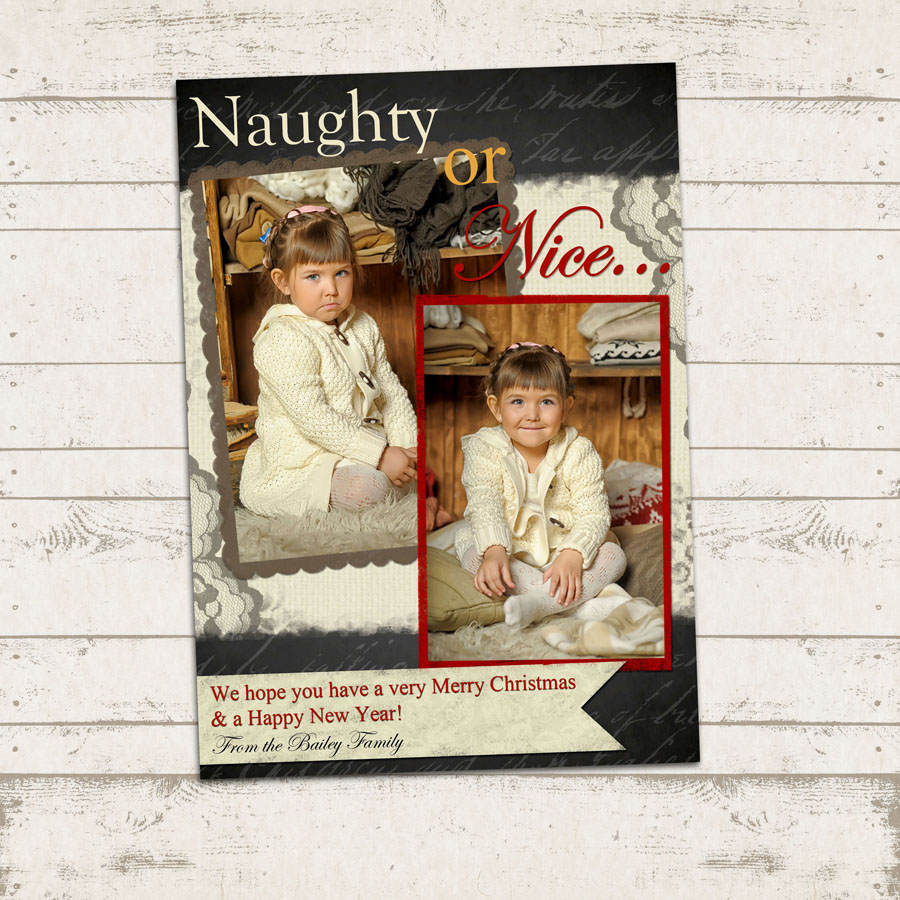 Valerie Pullam Designs | Naughty or Nice - Christmas Photo Card ...